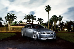 BMW E92 335 flash composite: Miami Florida [Explored] (DiGitALGoLD) Tags: auto 3 composite grey nikon long exposure ranger cross miami space wheels led bmw series m3 19 softbox f28 d3 rx octa 19s 2470mm elinchrom 335 e92 335i rotalux