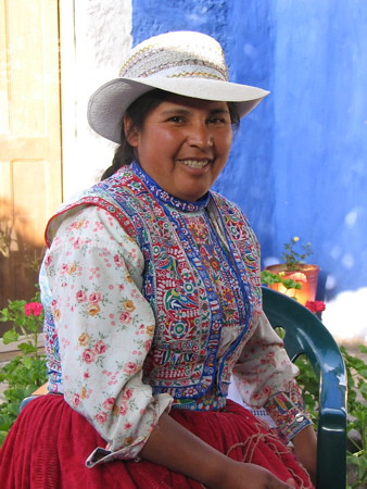 Felicita from Colca Canyon - our knitting teacher