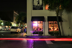 Virginia's (chaviland4) Tags: sc night lights restaurant exposure time tail charleston virginias kingst