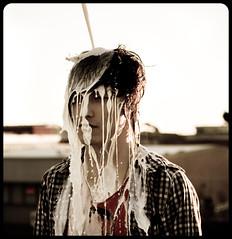 Milk (Xiangk) Tags: portrait self milk mess photoshoot sydney creative band rapids messy concept