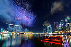 NDP 2010 - Fireworks 2 (j-imaging) Tags: city bridge urban skyline night marina ir bay boat singapore day fireworks parade resort national esplanade ndp hippo sands fullerton 2010 mbs padang integrated pyrotechnic 100commentgroup