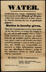 Warning against wasting water,1838 (P&KC Archive) Tags: scotland perth archives ecsochistory historicaldocument
