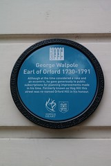 Photo of George Walpole blue plaque