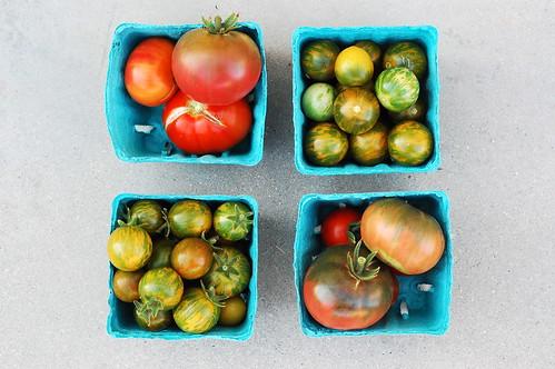 a nice tomato harvest