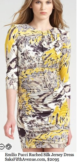 Saks.com - Emilio Pucci - Ruched Silk Jersey Dress