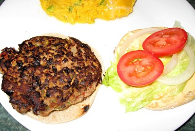 Turkey Black Bean Burger @ Debbi Does Dinner