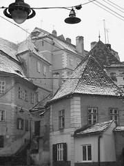 100_3370a (Klaus S. Henning) Tags: old blackandwhite bw house lamp monochrome blackwhite bestof romania transylvania transilvania sibiu hermannstadt ardeal siebenbrgen klausshenning