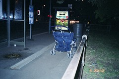 Pram and vomit (Rich1078346) Tags: bus abandoned beer double stop southampton buggy sick puke vomit pram