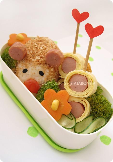 Cute Guinea Pig Bento 1
