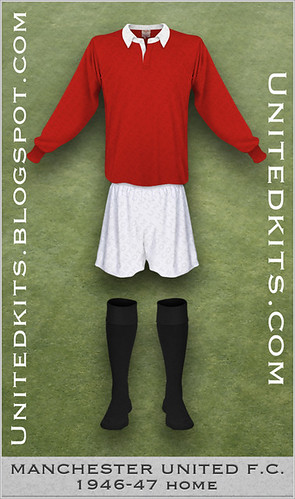 Manchester United 1946-1947 Home kit
