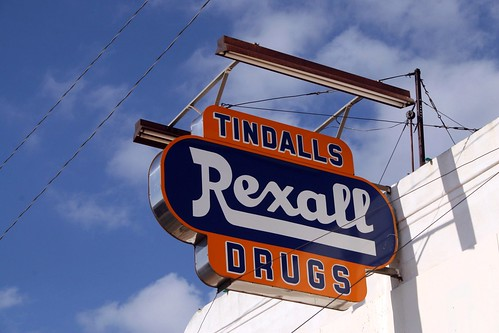 tindall's drugs rexall sign