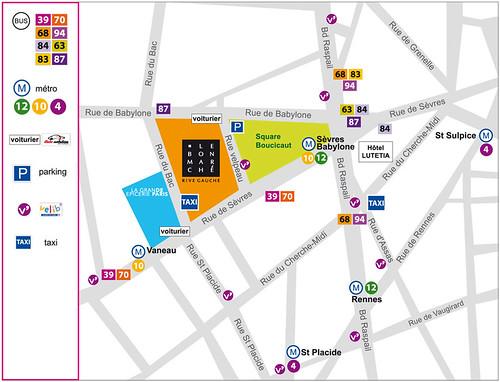 mapa epicerie - bon marche