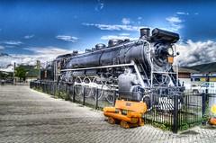 Train in town of Jasper HDR