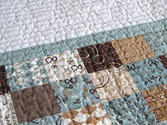 Pure Baby Boy quilting closeup (teaginny) Tags: boy simple pure sweetwater modernbabyquilt modabakeshop