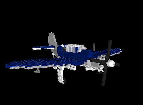 SB2C Helldiver LDview render