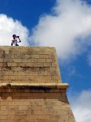 Looking out for the Ottoman fleet (bazylek100) Tags: tower citadel malta victoria knights fortress rabat gozo hospitaller knightsofmalta orderofstjohn