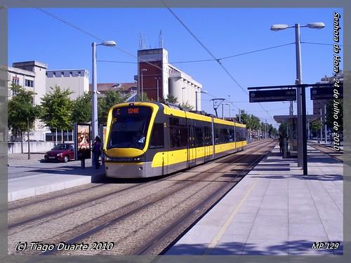 Flexity Swift - Metro do Porto 129 - Senhora da Hora - 24 de Julho de 2010