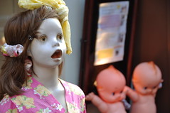 Mannequin with Kewpie -@- (mukarin) Tags: mannequin japan tokyo walk   shimokitazawa kewpie  18200mm d90   afsdxnikkor18200mmf3556gedvrii