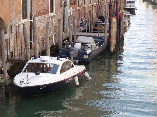 Venice - Riva degli Schiavoni - Rio di San Lorenzo - boat - Caribinieri