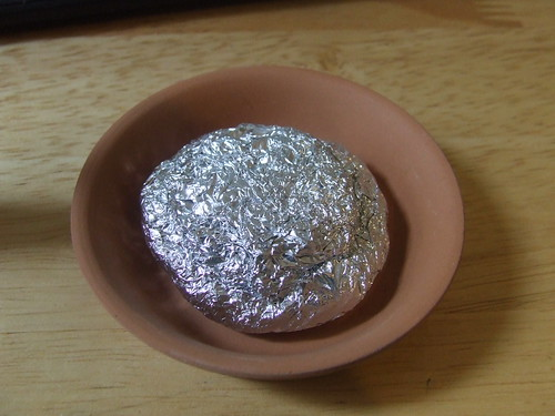 Foil padding in dish