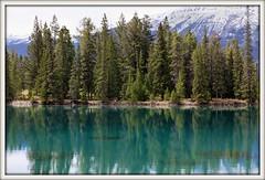 Turquoise Lake (Madbuster75) Tags: park blue lake canada mountains hotel jasper national fairmont