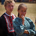 Fort Ross: Boy and Girl wearing Traditional Russian Costumes