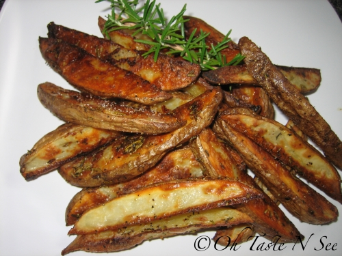 Garlic Rosemary Baked Fries @ Oh Taste N See