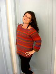 A blusa usada sem a gola (clique na imagem para ampliar)