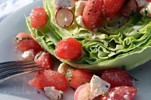 Watermelon Feta Salad @ Girlichef