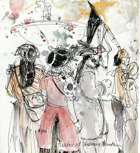 Urban Sketchers symposium: pirates!