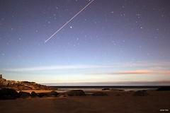 Estrella fugazz (s ) Tags: noche mar playa galicia estrellas nocturna avin dique acorua largaexposicin portodoson a3b