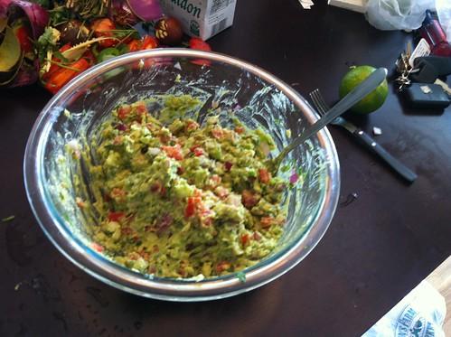 Mash guacamole