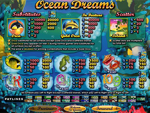free Ocean Dreams slot mini symbol