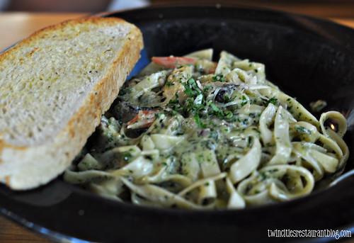 Creamy Pesto Fettuccine @ Brick Oven ~ Austin, TX