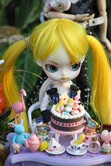 The Sulkiest Birthday Girl (esmereldes) Tags: miniatures miniature doll dolls alice dal mini mimi rement minis aliceinwonderland hangry aramina dals img1182 animadnessmeetup