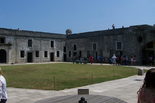 Inside the Castillo de San Marcos