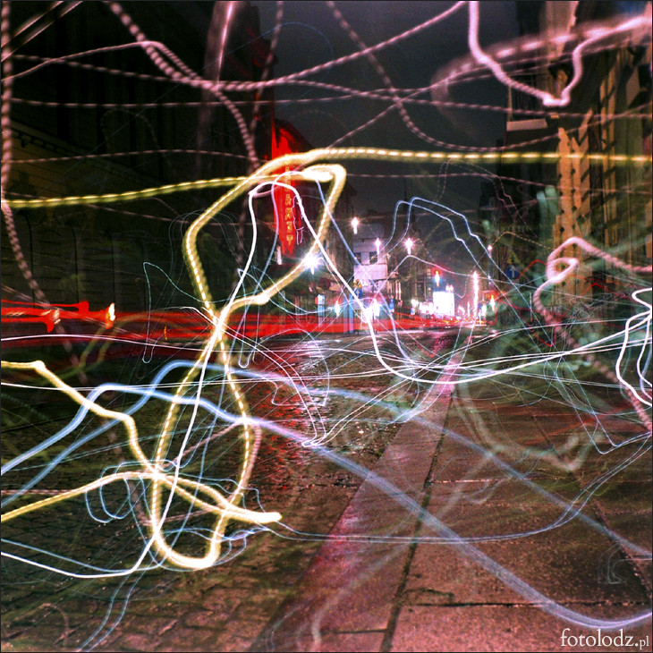 Łódź Rysowana Światłem - ulica Tuwima