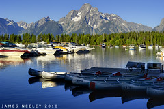 Morning at Coulter Bay (James Neeley) Tags: landscape mountmoran grandtetons tetons photomatix gtnp coulterbay jamesneeley exposurefusion
