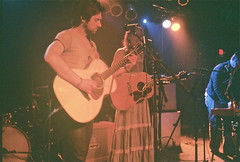 Conor Oberst and Gillian Welch (driftinggypsy) Tags: conoroberst thewaitingroom concertforequality