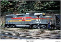 CRR GP38-2 6001 (Robert W. Thomson) Tags: railroad train virginia diesel dante railway trains locomotive trainengine geep crr emd gp382 gp38 clinchfield familylines fouraxle familylinessystem