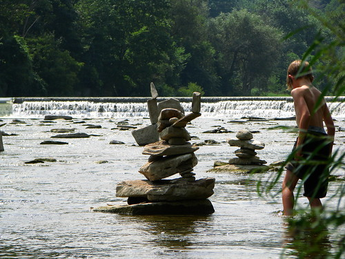 Sculptures on the Humber River
