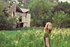 (emmakatka) Tags: portrait house building green abandoned home girl grass north emma derelict dakota abandonment katka