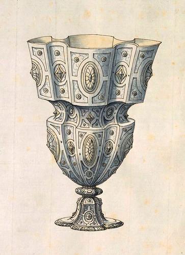 006-Copa-Entwürfe für Prunkgefäße in Silber mit Gold-BSB Cod.icon.  199 -1560–1565- Erasmus Hornick