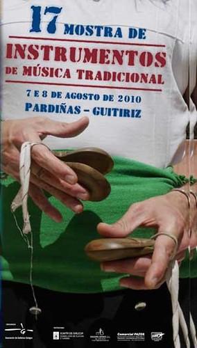 Mostra de instrumentos de música tradicional de Pardiñas 2010 - 17ª edición - Guitiriz - agosto - cartel