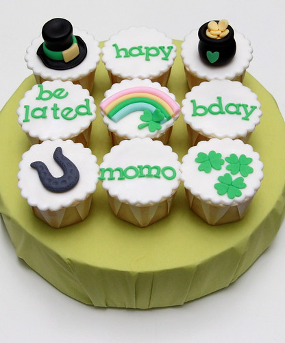 Irish birthday cupcakes