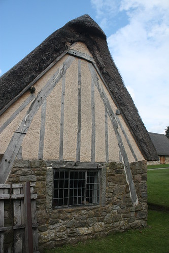 End of thatched cruck house