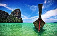 Bye bye, I am sailing (Fabio Sabatini) Tags: sea beach thailand boat sand asia southeastasia sigma tropical longtail krabi raileh railay 10mm gettyvacation2010