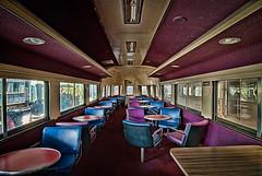Lounge Car (Keith Mendel) Tags: blue purple railway 1224mm hdr topaz loungecar duluthga tokina1224mm southeasternrailwaymuseum museumtokina duluthgasoutheastern