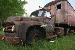 Big Job (Mr Perry) Tags: ford rust 1950s oxidation 1953 bigjob sigma1020mm vintagetruck mcleans transporttruck pentaxk10d
