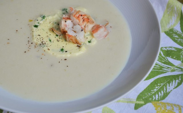 4872433418 ac1cf66ca2 z Chilled Corn Soup, Garlic Custard, Shrimp, and Promises of Summer